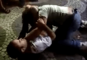 triangle choke street fight