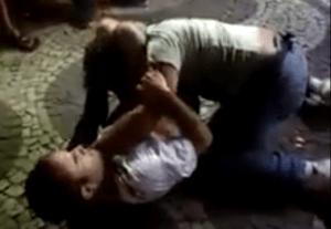 triangle choke street fight