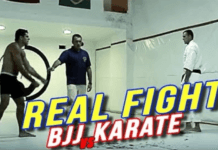 BJJ vs Karate fight