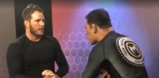 Chris Pratt Demonstrating Takedown on Minotauro