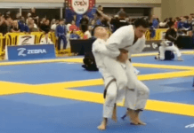 Suplex at IBJJF Tournament. Brown Belt Knocked out His Opponent