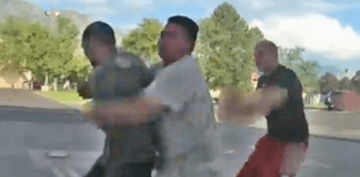 Bystander Body Slams Man Who Attacked Utah Cop
