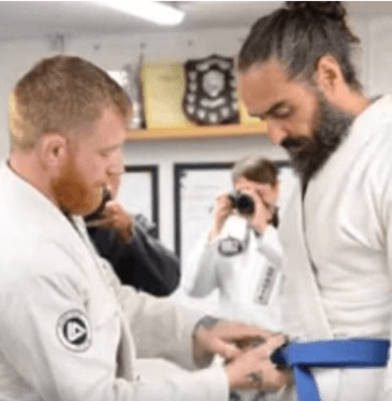 Russell Brand Promoted to Blue Belt